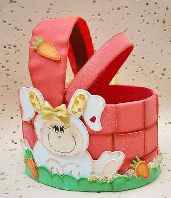 13 ideias de cestas de Páscoa em EVA