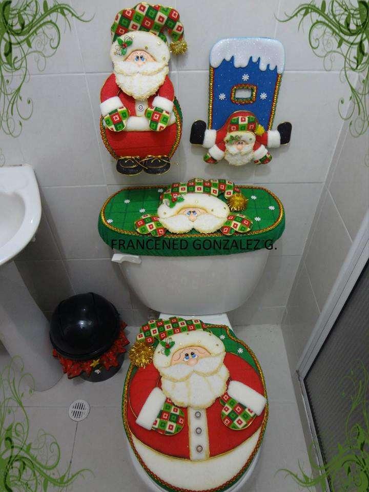 juego de bano para navidad