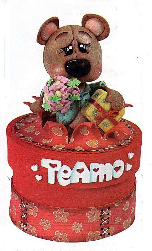 caja decorativa con oso sm