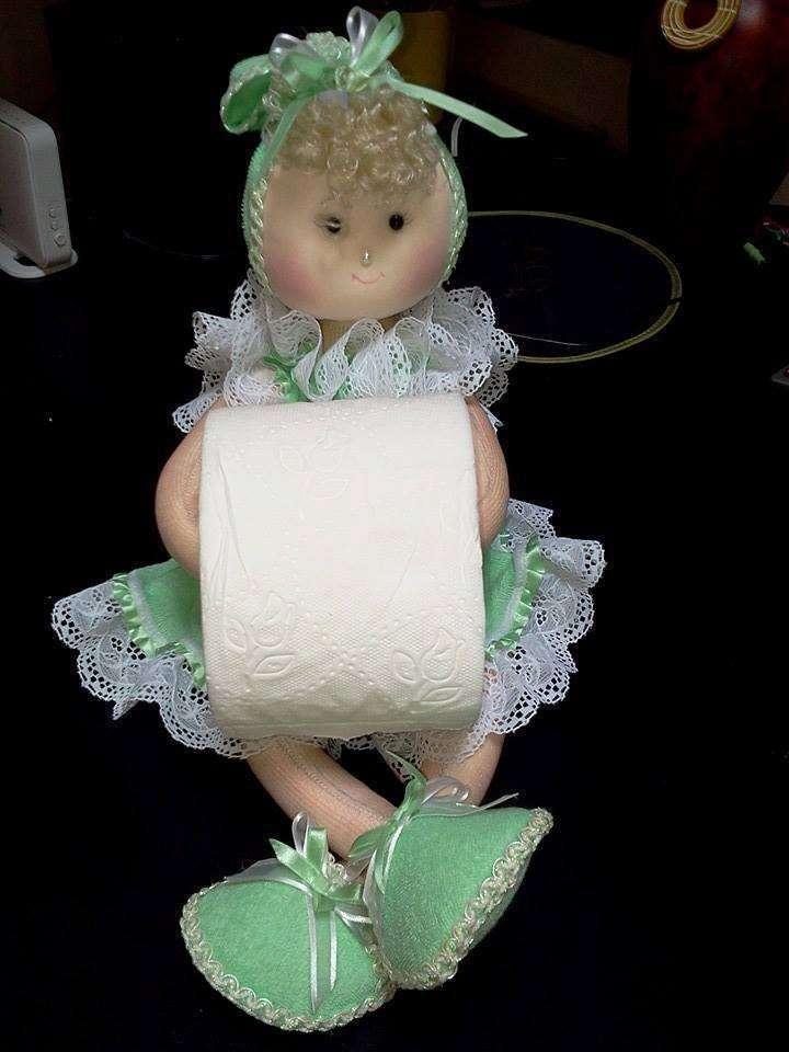 porta papel higienico muneca verde