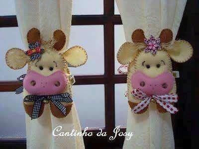 vaca vaquita en la cocina sujetadores para la cortina